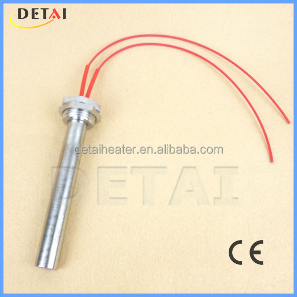 Electric water heating rod for industrail machines