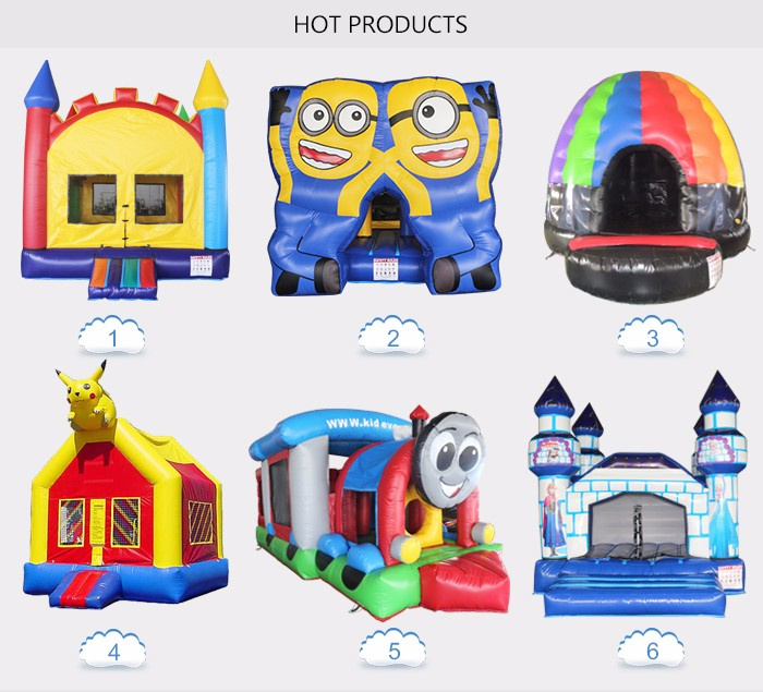 2016 rainbow hot sale inflatable amusement park
