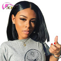 XBL New Arrival 12 Inch Straight Virgin Human Hair Short Bob Lace Front Wig