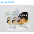 Custom printed back side seal clear plastic bag for potato chips
