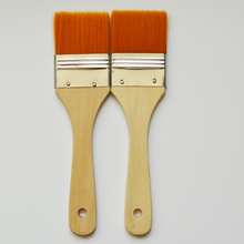 Wholesale 1inch 2inch Nylon Hair Wooden Handle Artist Paint Brush