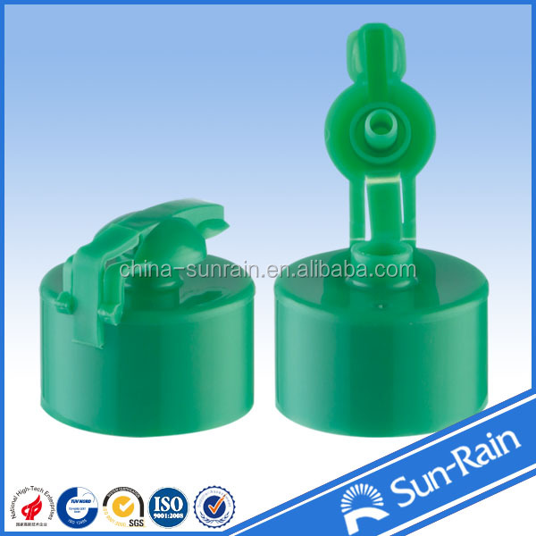 plastic liquid bottles closures 28MM push pull cap plastic sport cap