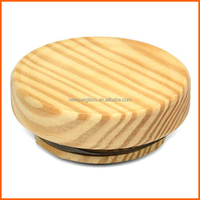 Wholesole customized high quality wooden jar lids