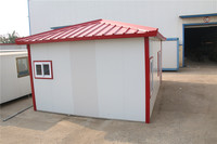economical insulated prefabricated china slope roof prefab house for resident