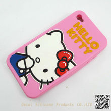 different fashion hello kitty silicone case for iphone