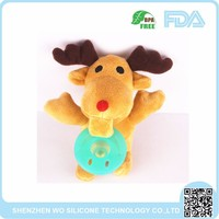OEM welcomed popular animal plush toys with nipple