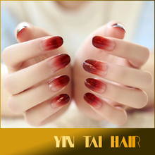 24pc Full Nail French Tips Natural Finger False Fake Ombre Nails