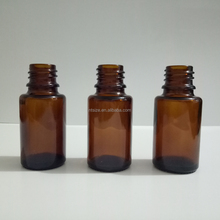 15ml Square Shoulder Amber Glass Bottles With Various Dropper Cap