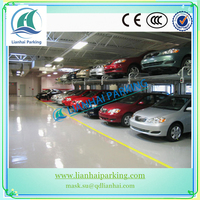 China Lianhai Mechanical 2 Level Two Post Car Parking Lift