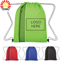 Custom polyester Drawstring bag/cheap Printed drawstring backpack