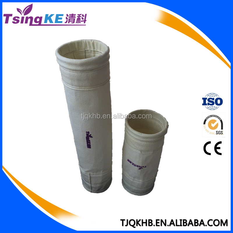 TsingKe High Temperature Resistance Dust Ceaning Glass fiber Filter bags