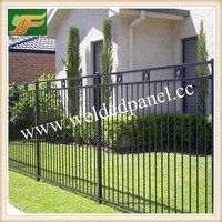 Lower price cheap garden fence wrought iron fence panel