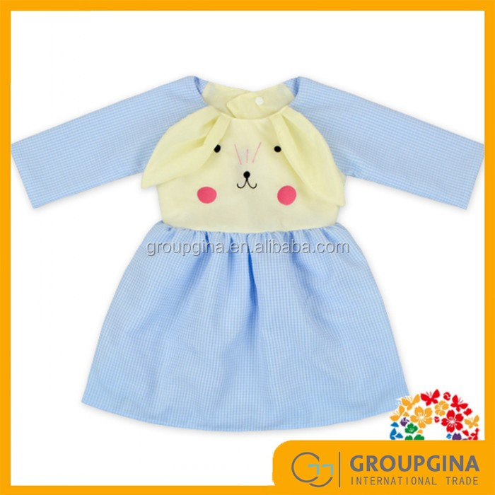 2017 Wholesale Monogrammed Girls Plaid Bunny Baby Dress