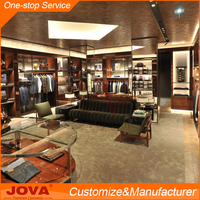 JOVA furniture design retail clothes cabinet, clothing display showcase, wooden clothes hanger stand