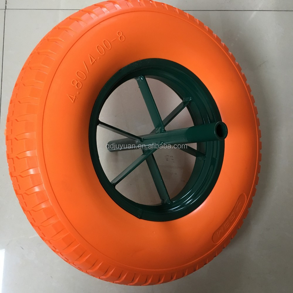 Manufacturer 4.00-8 trolley rubber solid foam tire wheel
