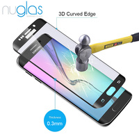 Nuglas Full Cover 3D Curved Tempered Glass Screen Protector for Samsung S6 edge