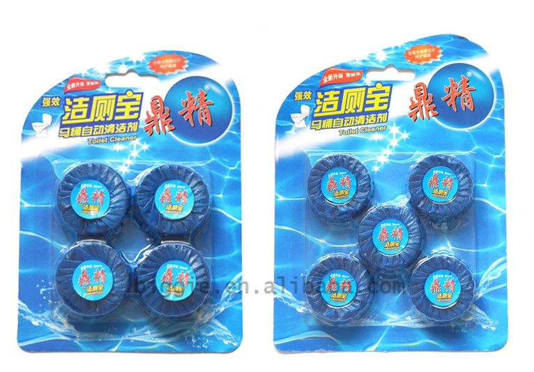 6PCs Blue-Bubble Flush Block Toilet Bowl Cleaner/Fragrance Blue Block Solid Auto Toilet Cleaner