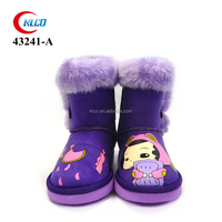 custom pattern eva sole kids work snow winter boot