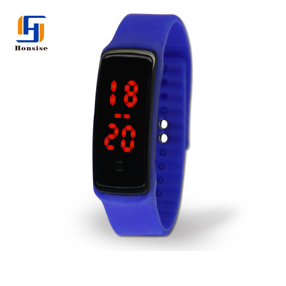2016 Fashion Ultra Thin Silicone Digital LED Sports Wrist Watch For Unisex