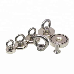 Round Neodymium Fishing Pot shape Super Strong Magnet with Eyebolt Household Sundries