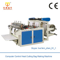 Computer Control Bottom Seal Bag Cutting Machine Making Clear Plastic Bag