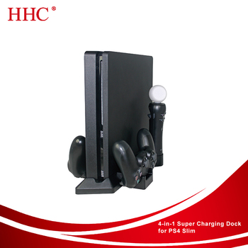 Multi-function charge station for PS4 Slim factory wholesale high quality