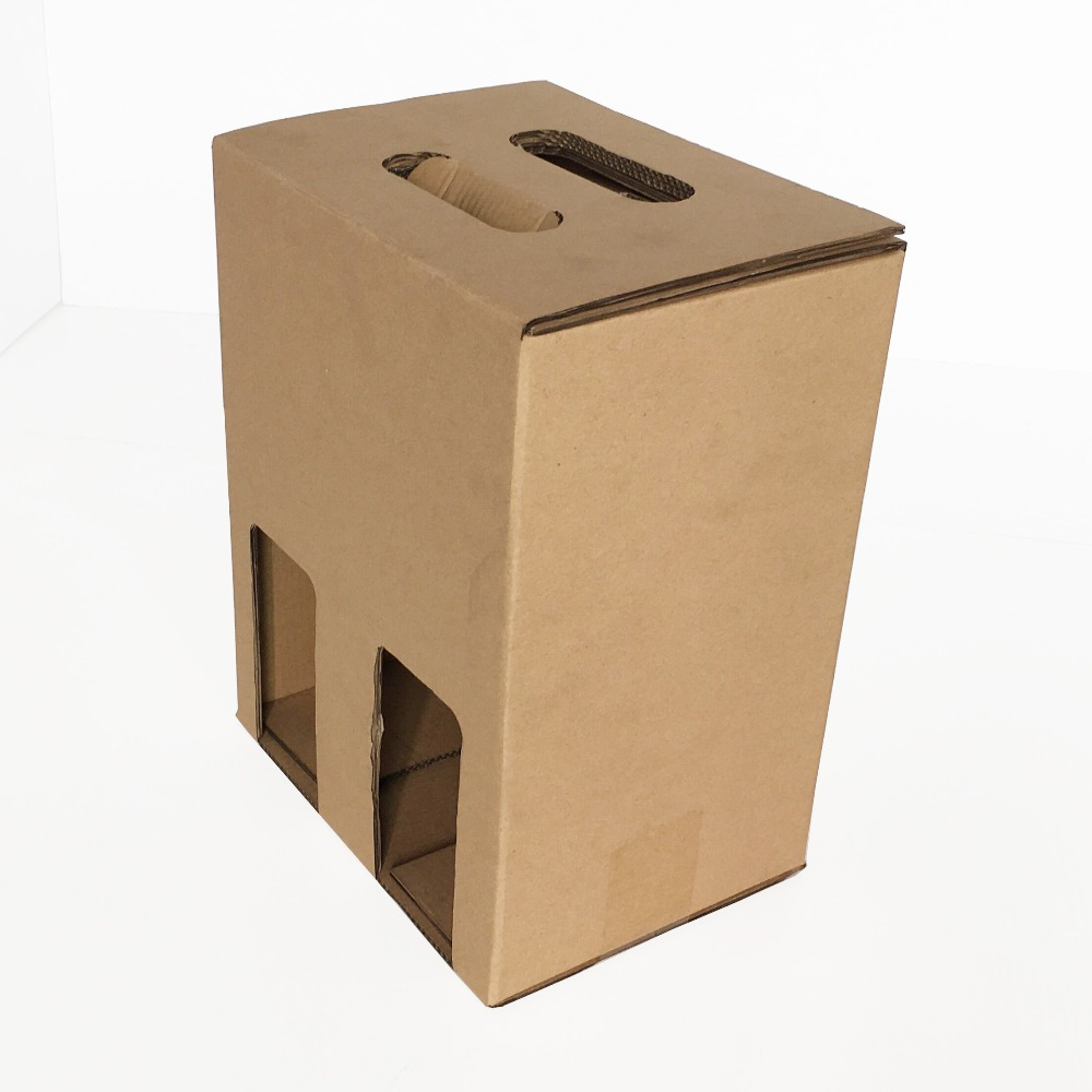 E-flute corrugated cardboard shipping box for <strong>wine</strong>