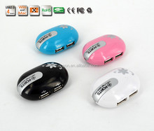 Good Quality Mouse- shape 4 port usb 2.0 hub for various computer devices