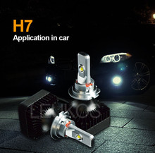 All in one design led headlight bulb h7 car accessories