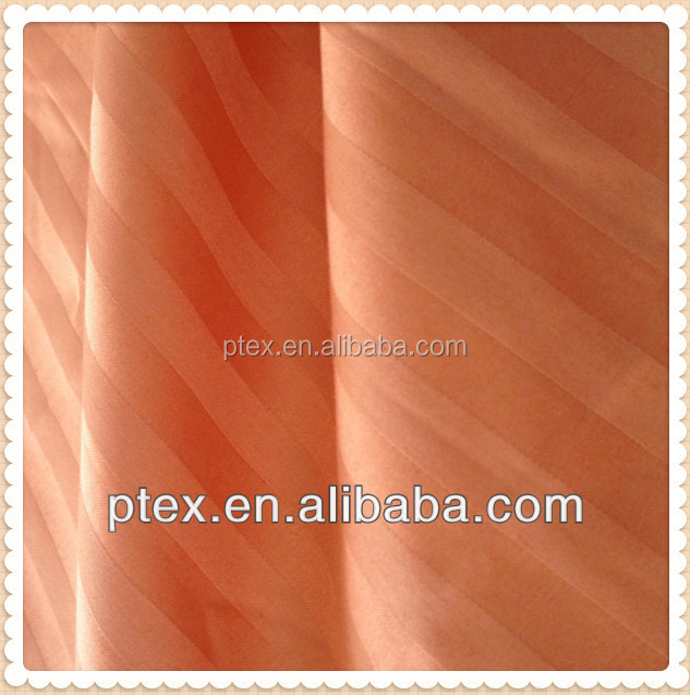 CVC 50/50 sateen stripe bleached beddding fabric by China manufacturer