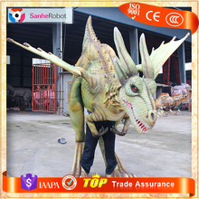Artificial realistic animatronic Adult Inflatable Dinosaur Costume for sale