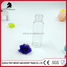 Multifunctional 3ml circle round glass roll on bottle with screw lids