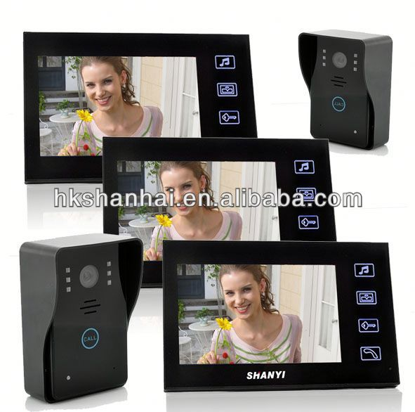 2.4GHz wireless Ultra-slim full-touch screen Water and oxidation proof 4 wire video door phone