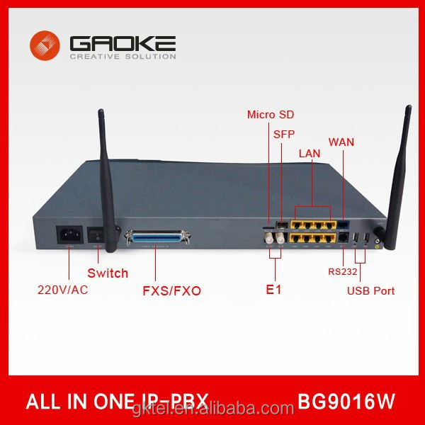 MINI IP PBX GAOKE BG9016W Asterisk VoIP PABX SYSTEM FXS/FXO GSM, Call Center, IVR, Billing, Cheap Soho/SMB Solution
