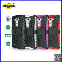 2014 Newest Arrival for LG G3 Case TPU Silicone Combo Stand Durable Hard Case with Stand Laudtec