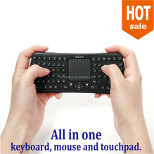 Best design mini bluetooth wireless touchpad keyboard convenient to take away in your journey, put into pocket.