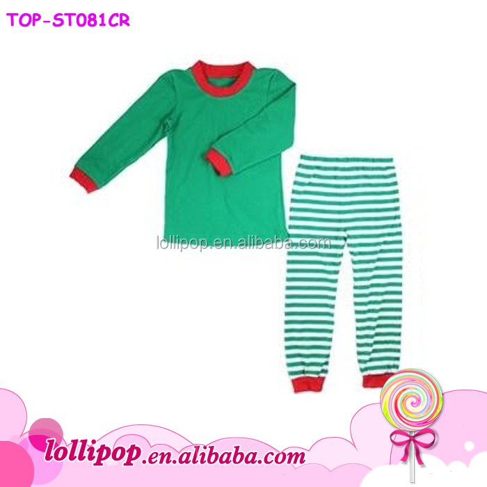 Christmas cotton popular pajamas set matching family stripe cotton pajamas and underwear for adult and children
