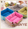 Kennel pet nest new autumn and winter fashion rainbow striped cat litter sized dog bed dog sofa