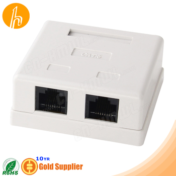 Plastic Cat6 Surface Box HM-HB07