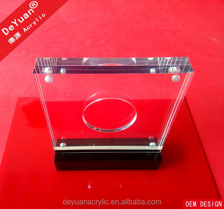 Manufacturer Clear Blank Glass Award Frame With Magnet