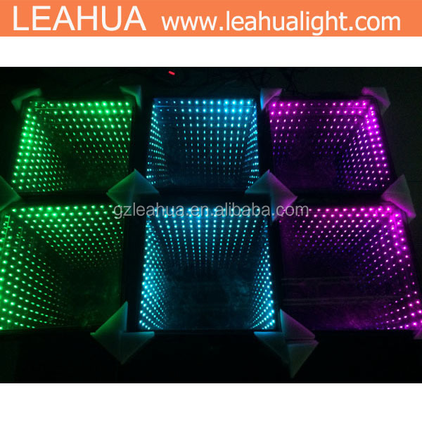 Party 3d RGB 3in1 led disco mirror dance light /50*50cm 3D time tunnel dance floor