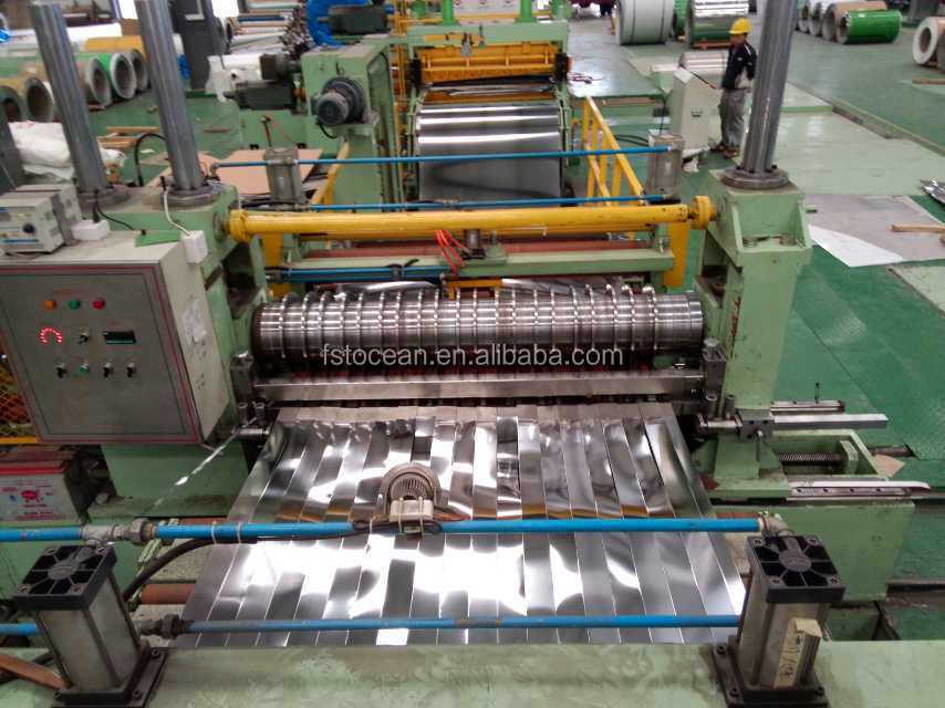 The slit machine of stainless steel