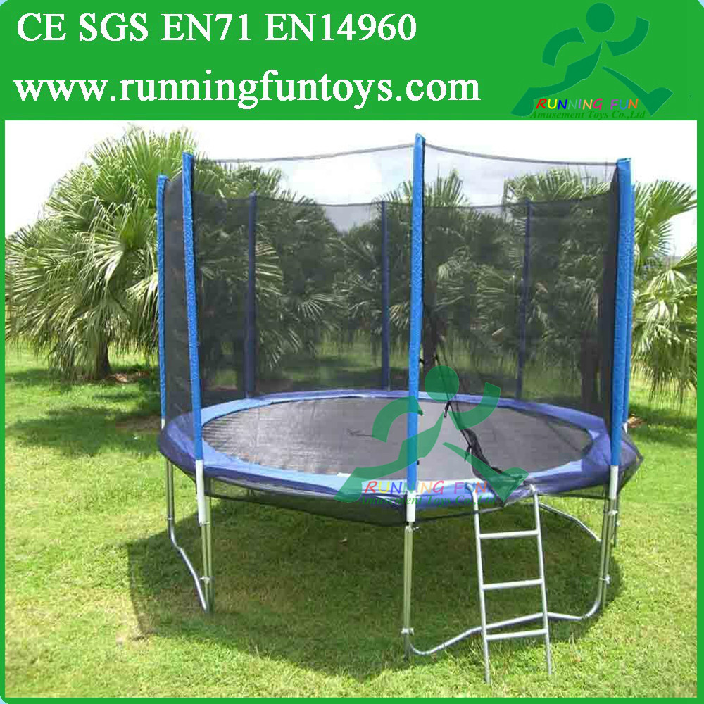 Large Single Bungee Jumping Trampoline With Enclosure For Sale
