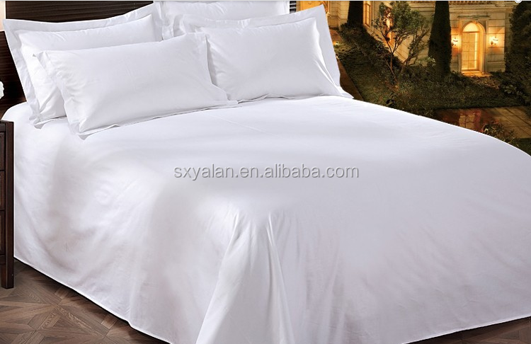 100% bleached white cotton bedding fabric