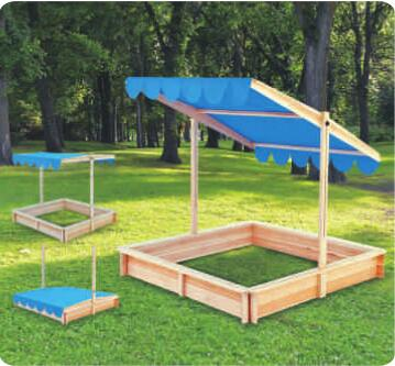 flat packing wooden adjustable sandbox