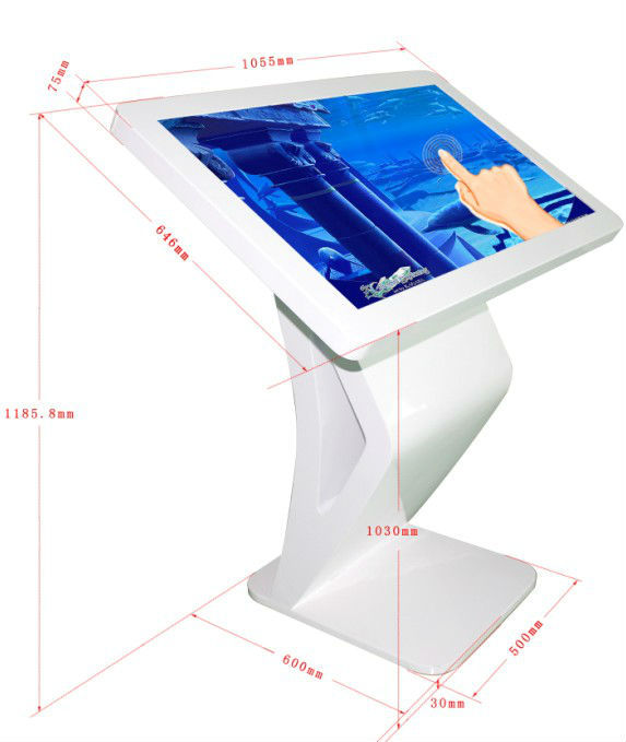 43 inch touch screen kiosk ,interactive lcd all in one totem