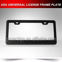 Twill Glossy Carbon License Plate Frame,car license frame for USA Canada