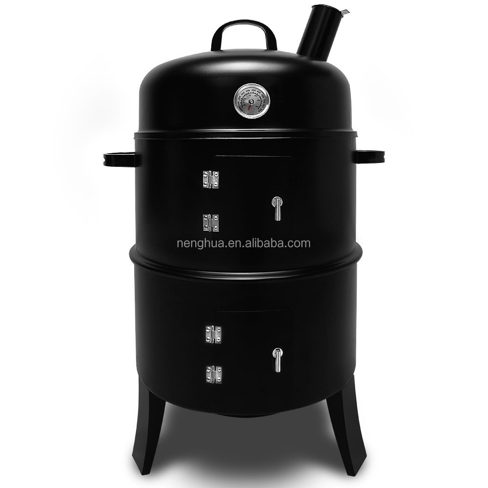 16 inches 3 in 1 Multi-fuctions BBQ Smoker Charcoal Vertical Grill
