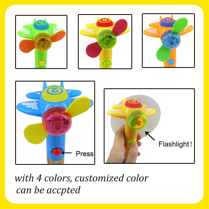 Light Up Airplane Candy Spinning Fan