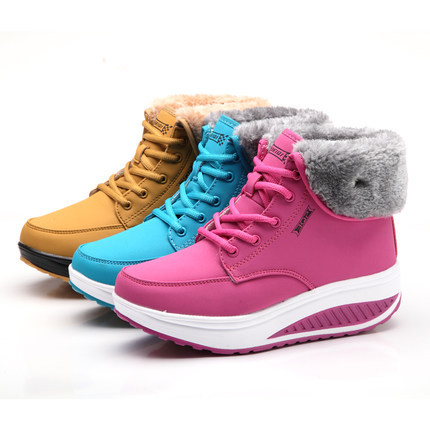 OEM comfort lady ladies lace up shoes outdoor women winter snow boots